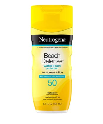 Beach Defense® Water + Sun Protection Sunscreen Lotion Broad Spectrum SPF 50