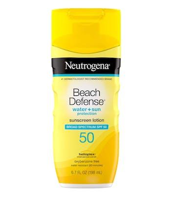 Beach Defense® Water + Sun Protection Sunscreen Lotion Broad Spectrum SPF 50
