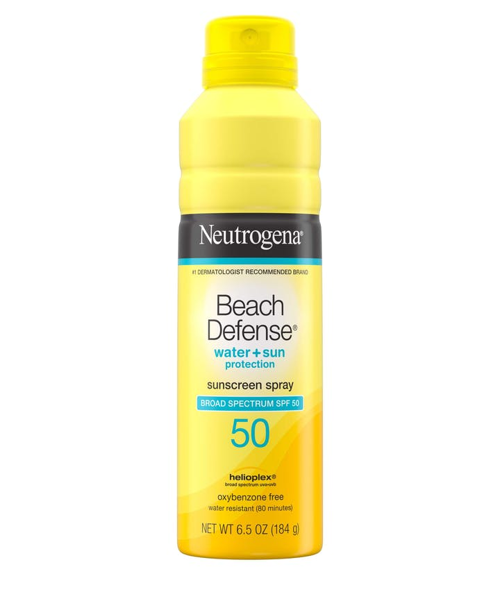 Neutrogena Beach Defense® Water + Sun Protection Sunscreen Spray Broad Spectrum SPF 50