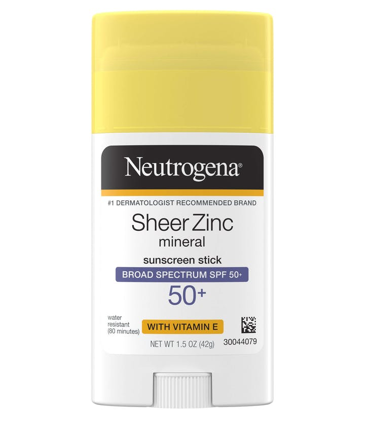Neutrogena Sheer Zinc Mineral Sunscreen Stick Broad Spectrum SPF 50+