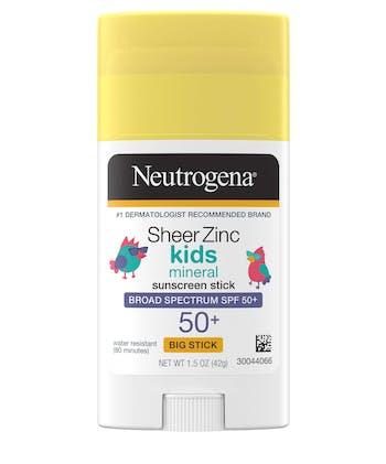 Sheer Zinc Kids Mineral Sunscreen Stick Broad Spectrum SPF 50+