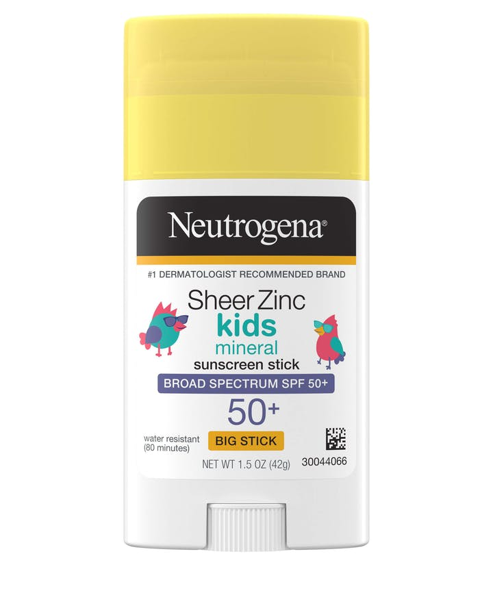 Neutrogena Sheer Zinc Kids Mineral Sunscreen Stick Broad Spectrum SPF 50+