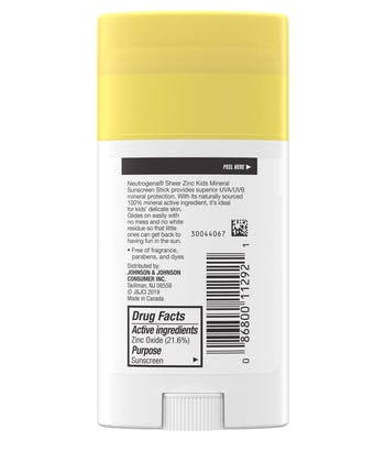 Sheer Zinc Kids Mineral Sunscreen Stick Broad Spectrum SPF 50+