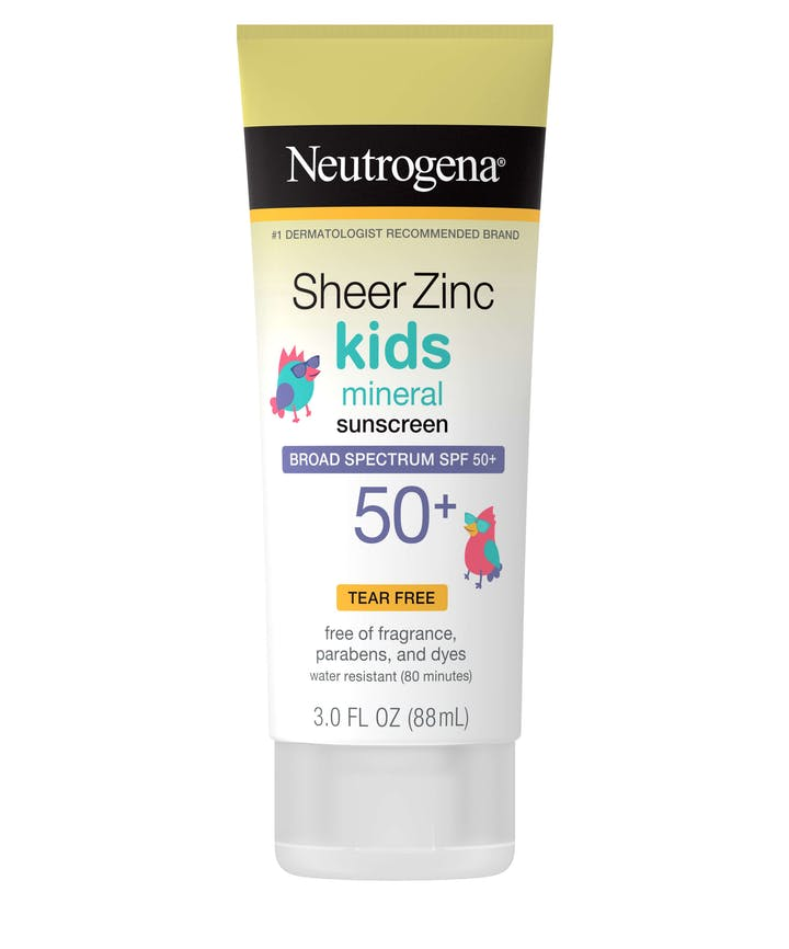 Neutrogena Sheer Zinc Kids Mineral Sunscreen Broad Spectrum SPF 50+