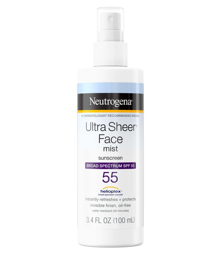 Neutrogena Ultra Sheer® Face Mist Sunscreen Broad Spectrum SPF 55