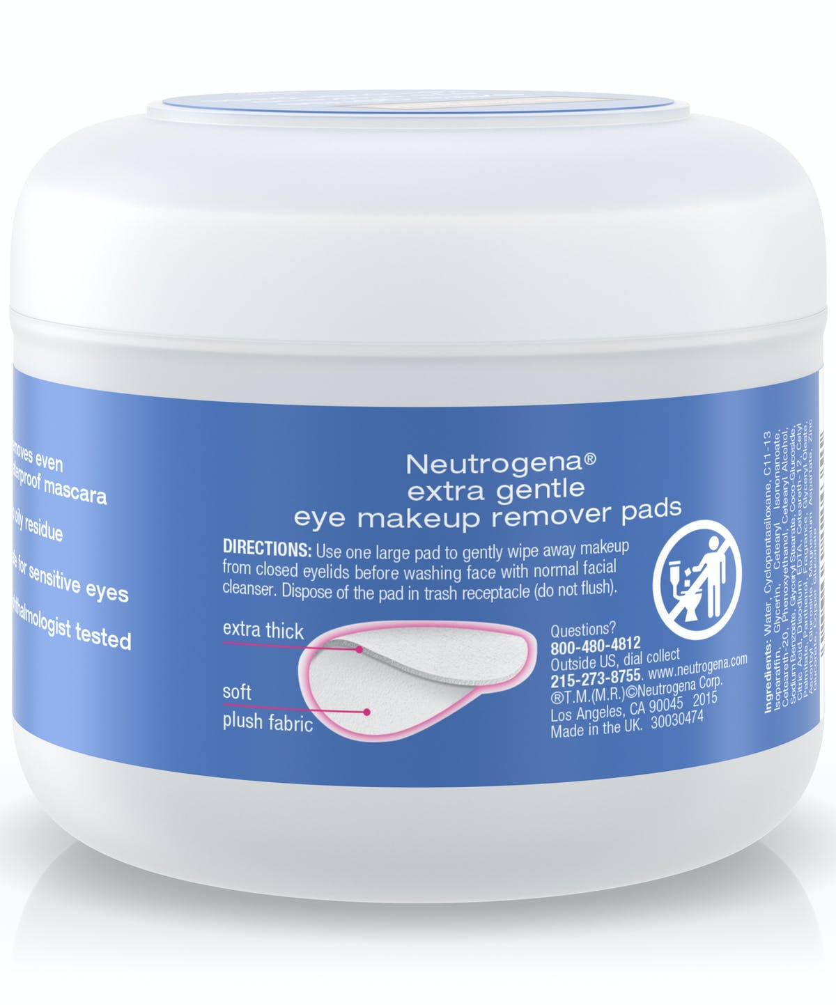 ... Extra Gentle Eye Makeup Remover Pads ...