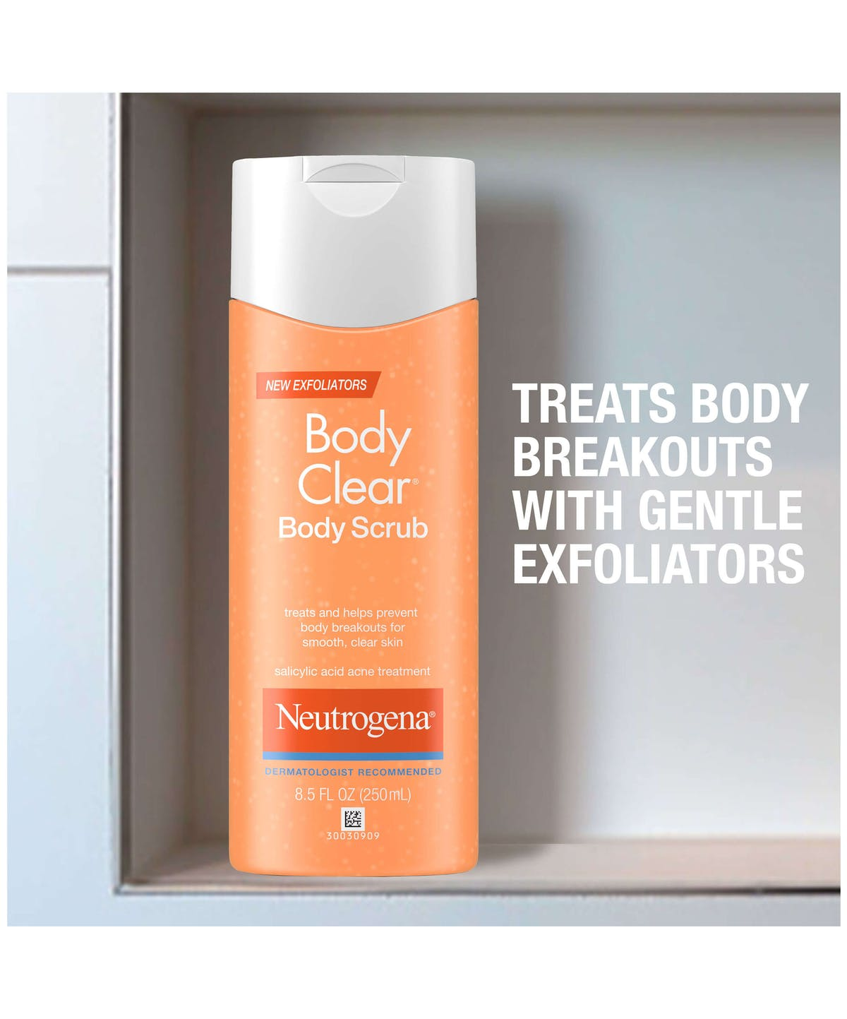 Body Clear Acne Body Scrub Formulated With Salicylic Acid