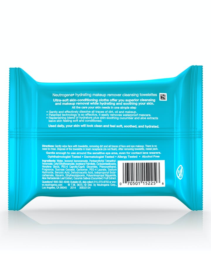 Makeup Remover Cleansing Towelettes-Hydrating