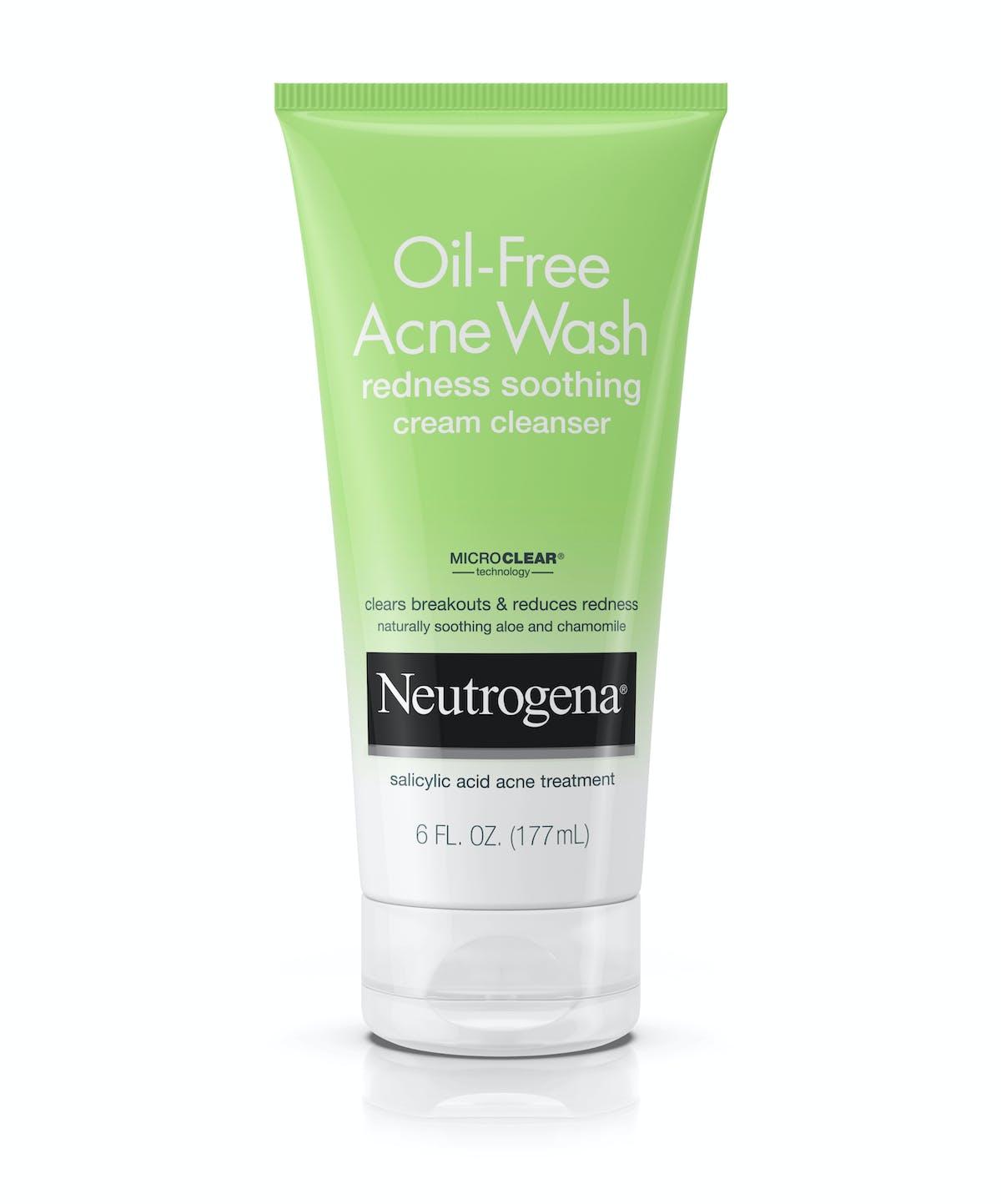 Oil-Free Acne Wash Redness Soothing Cream Cleanser   Neutrogena® 8fa93fd1b71