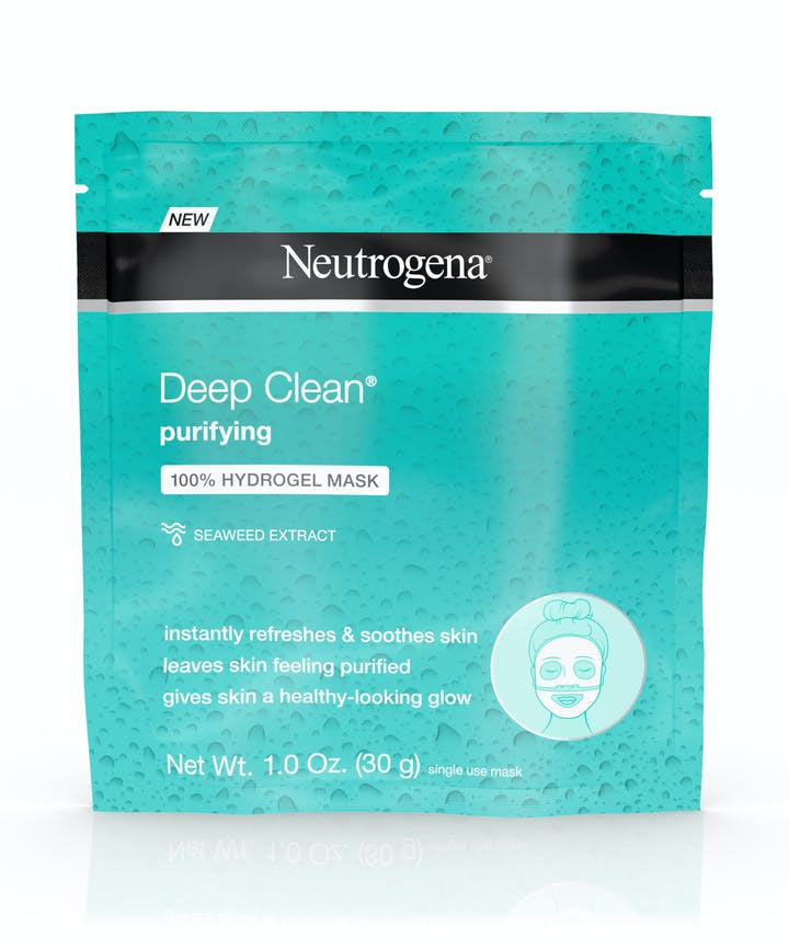 Neutrogena Deep Clean® Purifying 100% Hydrogel Face Mask with Hyaluronic Acid