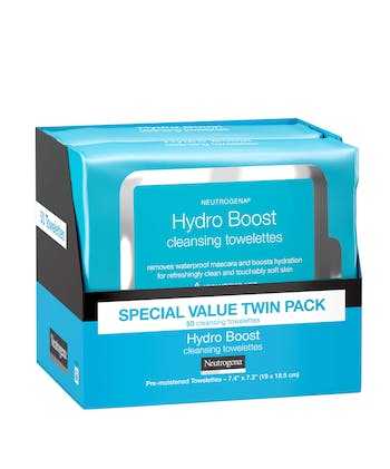 Hydro Boost Facial Cleansing Wipes with Hyaluronic Acid - 25 Count