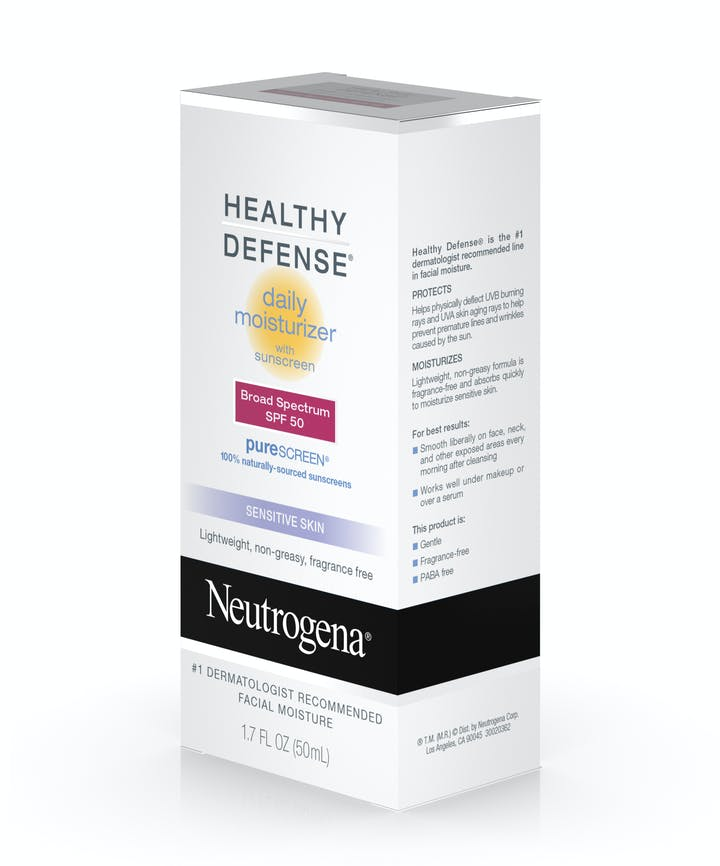 Healthy Defense® Daily Moisturizer with Sunscreen Broad Spectrum SPF 50 - Sensitive Skin