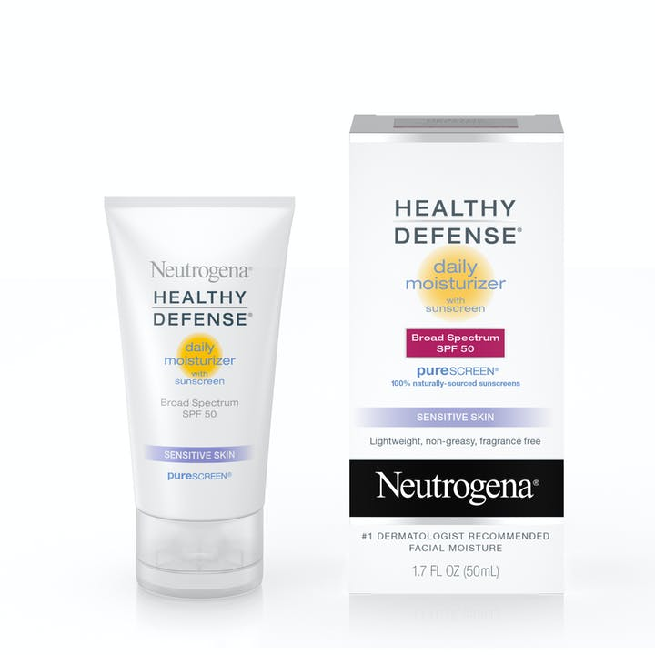 Neutrogena Healthy Defense® Daily Moisturizer with Sunscreen Broad Spectrum SPF 50-Sensitive Skin