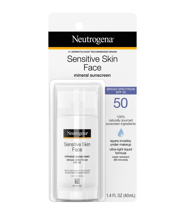 Neutrogena® Sensitive Skin Face Liquid Sunscreen Broad Spectrum SPF 50