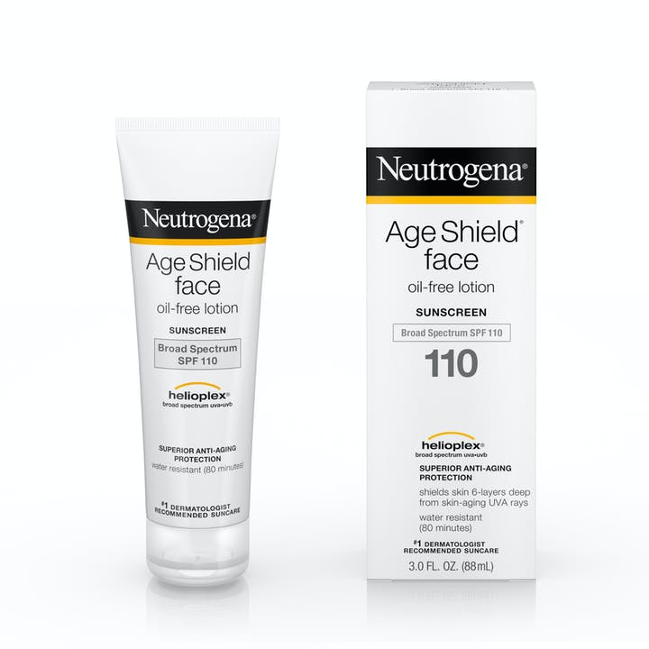 Age Shield® Face Oil-Free Lotion Sunscreen Broad Spectrum SPF 110