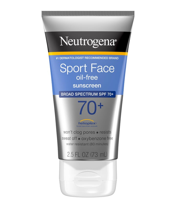 Neutrogena Sport Face Oil-Free Lotion Sunscreen Broad Spectrum SPF 70+