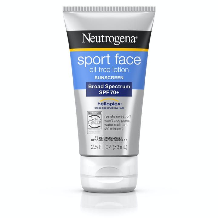 Neutrogena Sport Face Oil-Free Lotion Sunscreen Broad Spectrum SPF 70+