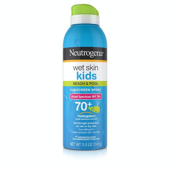 Neutrogena Wet Skin Kids Sunscreen Spray Broad Spectrum SPF 70+