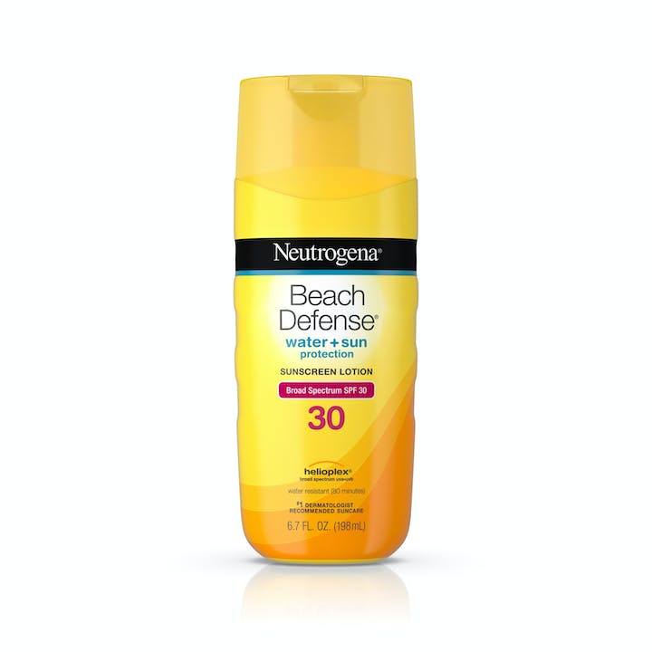 Neutrogena Beach Defense® Water + Sun Protection Sunscreen Lotion Broad Spectrum SPF 30