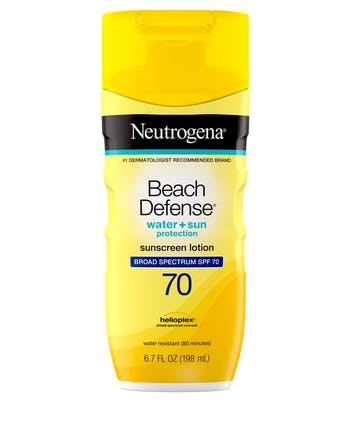 Beach Defense® Water + Sun Protection Sunscreen Lotion Broad Spectrum SPF 70