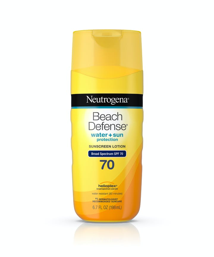 Neutrogena Beach Defense® Water + Sun Protection Sunscreen Lotion Broad Spectrum SPF 70