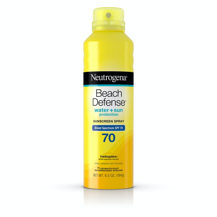 Neutrogena Beach Defense® Water + Sun Protection Sunscreen Spray Broad Spectrum SPF 70