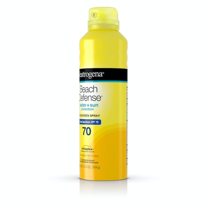 Beach Defense® Water + Sun Protection Sunscreen Spray Broad Spectrum SPF 70