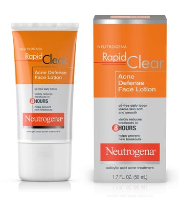 Rapid Clear Acne Defense Oil-Free Face Lotion & Moisturizer