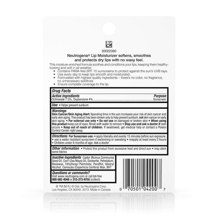 Norwegian Formula® Lip Moisturizer with Sunscreen SPF 15