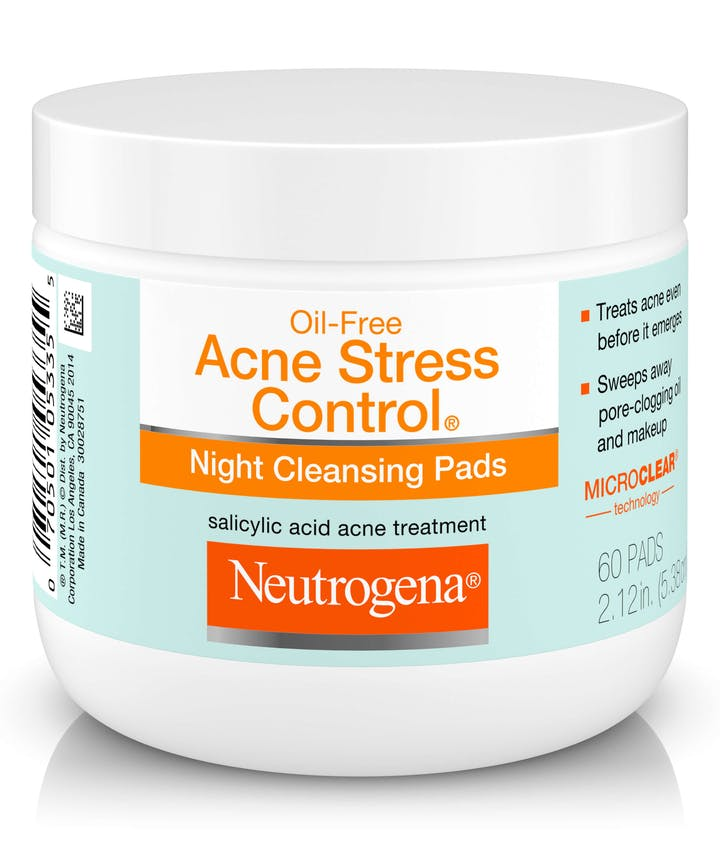 Neutrogena Oil-Free Acne Stress Control® Night Cleansing Pads