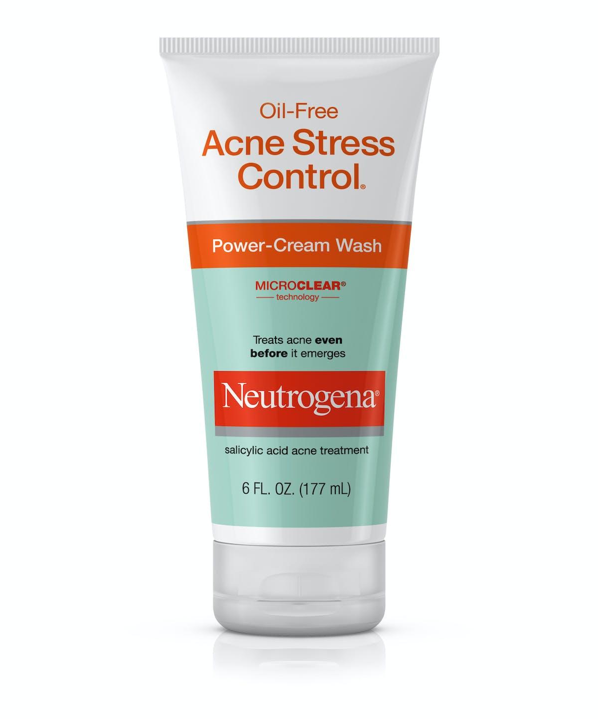 Oil Free Acne Stress Control Power Cream Wash Neutrogena