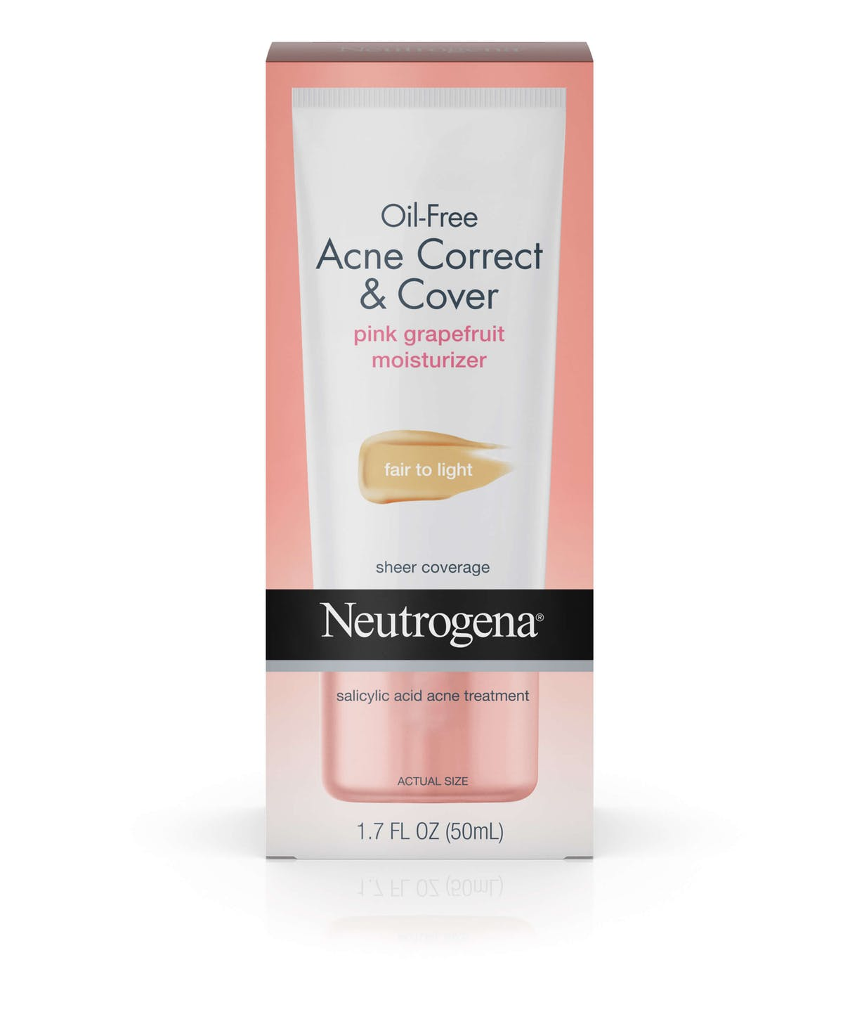 Oil Free Acne Correct Cover Pink Grapefruit Moisturizer Neutrogena