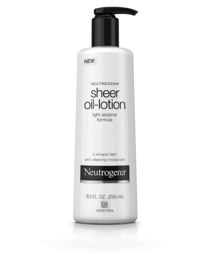 sheer oil lotion body moisturizer neutrogena