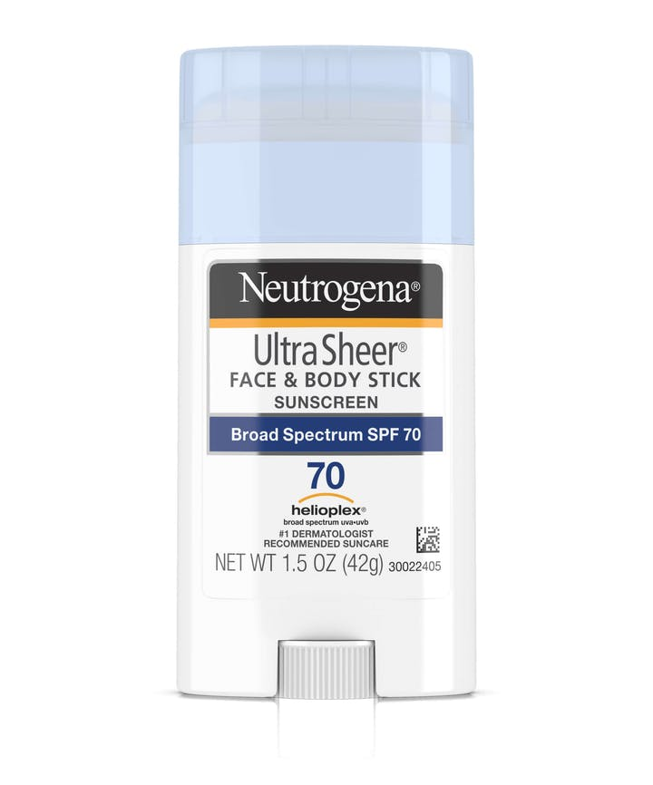 Neutrogena Ultra Sheer® Face + Body Stick Sunscreen Broad Spectrum SPF 70