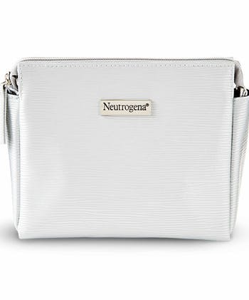 Neutrogena Silver Makeup Bag